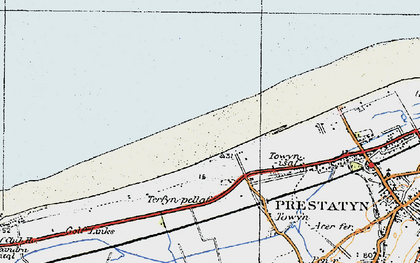 Old map of y-Ffrith in 1922