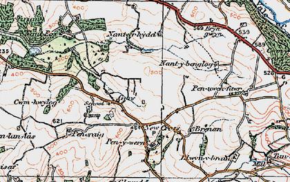 Old map of Gilfach goch in 1922