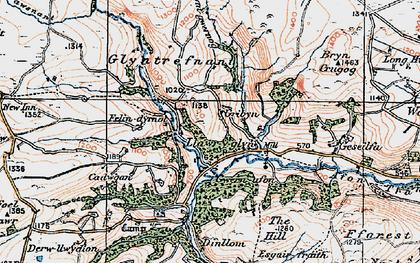 Old map of Y Gribyn in 1921