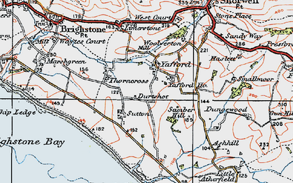 Old map of Yafford in 1919