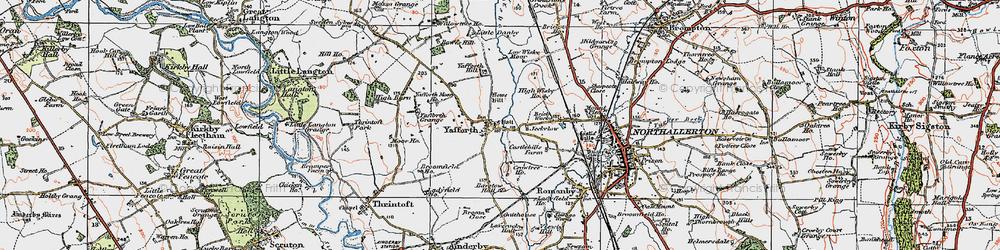 Old map of Yafforth Moor Ho in 1925