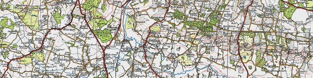 Old map of Yalding in 1920