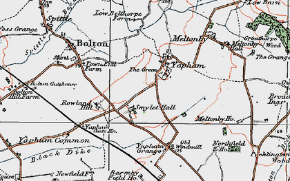 Old map of Yapham Common in 1924