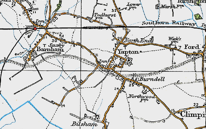 Old map of Yapton in 1920