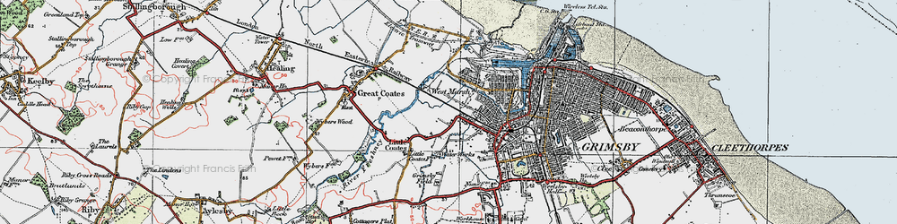Old map of Yarborough in 1923