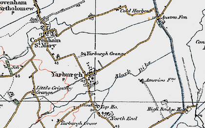 Old map of Yarburgh in 1923