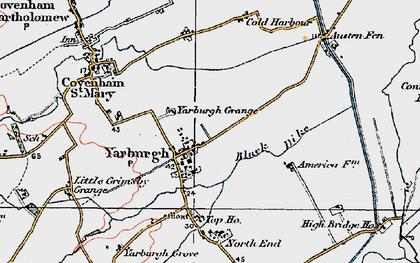 Old map of Yarburgh Grange in 1923