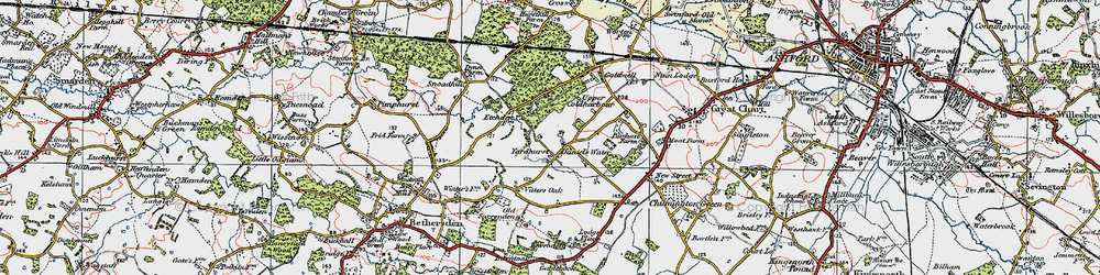 Old map of Yardhurst in 1921