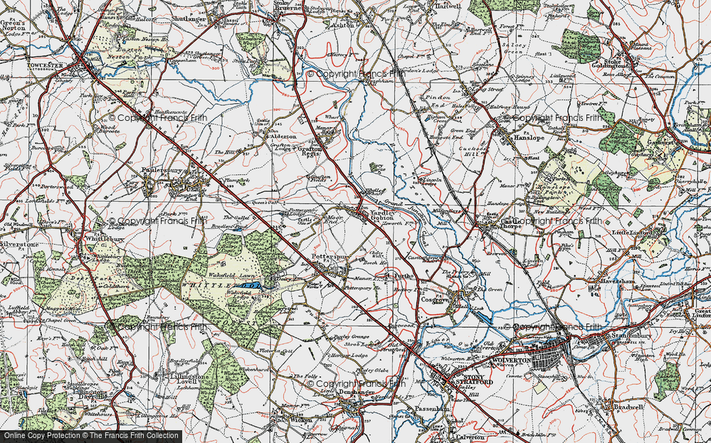 Old Map of Yardley Gobion, 1919 in 1919