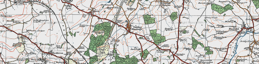 Old map of Wold, The in 1919