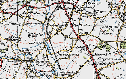 Old map of Yardley Wood in 1921