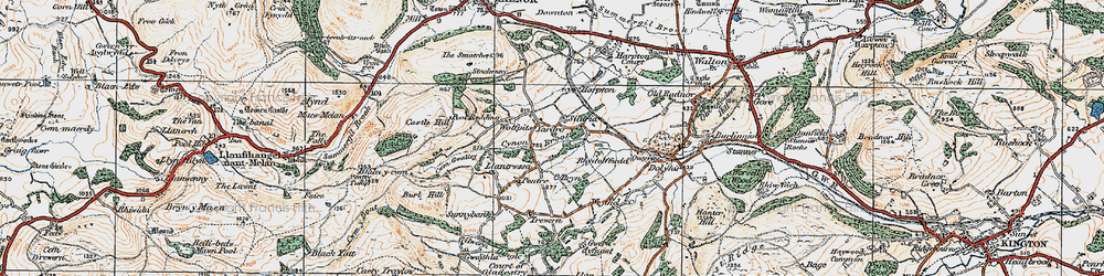 Old map of Wolfpits in 1920