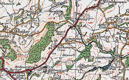 Old map of Yarhampton Cross in 1920
