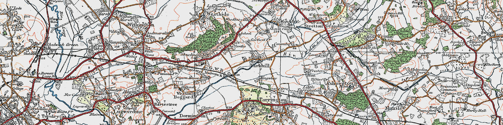 Old map of Yarkhill in 1920