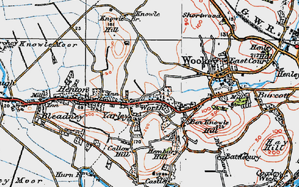 Old map of Yarley in 1919