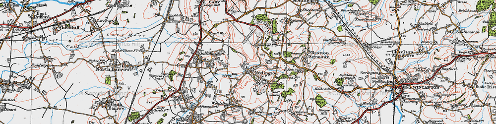 Old map of Yarlington in 1919