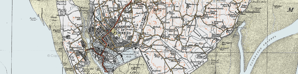 Old map of Yarlside in 1924