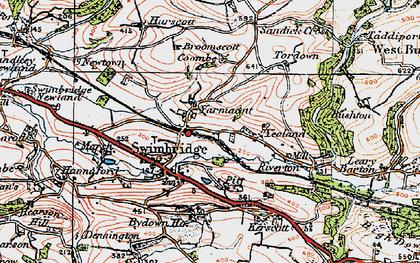 Old map of Yarnacott in 1919