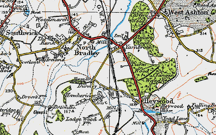 Old map of Yarnbrook in 1919