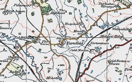 Old map of Yarnfield in 1921