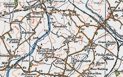Old map of Yarningale Common in 1919