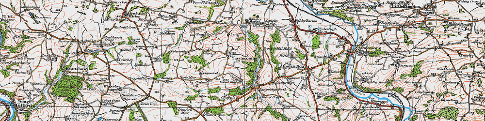 Old map of Yarnscombe in 1919