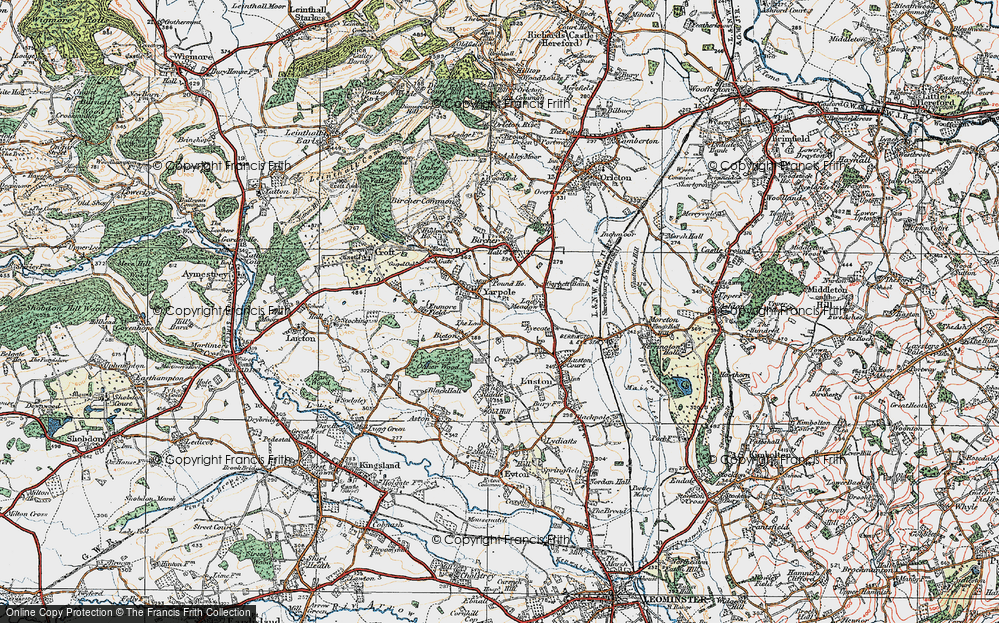 Old Map of Yarpole, 1920 in 1920