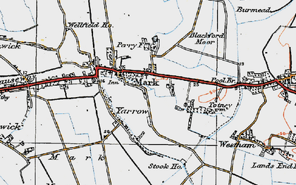 Old map of Yarrow in 1919