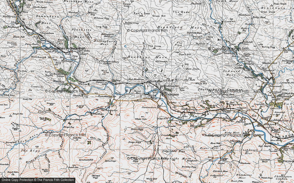 Old Map of Yarrow, 1925 in 1925