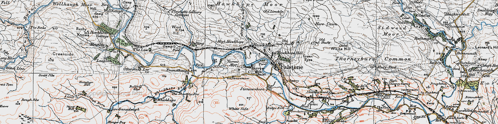 Old map of Yarrow in 1925