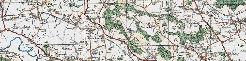 Old map of Wormsley Hill in 1920