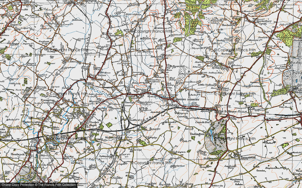Old Map of Yate, 1919 in 1919