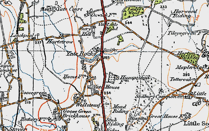 Old map of Yate Rocks in 1919