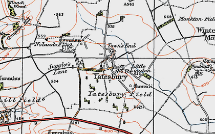 Old map of Yatesbury Field in 1919
