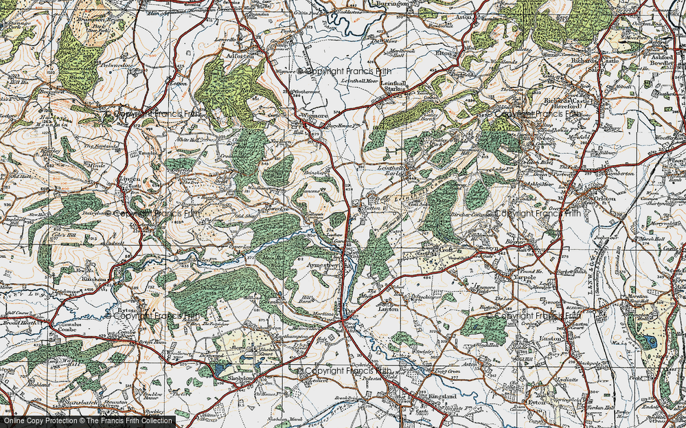 Old Map of Yatton, 1920 in 1920
