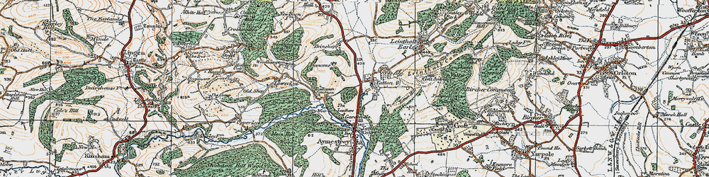 Old map of Leathers, The in 1920