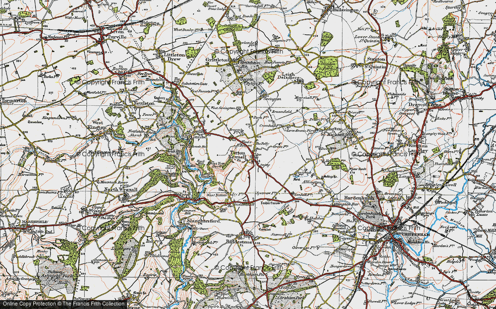Old Map of Yatton Keynell, 1919 in 1919