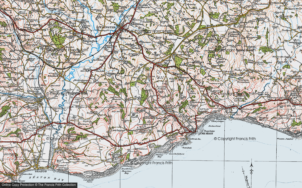 Old Map of Historic Map covering Woodhouse Hill in 1919