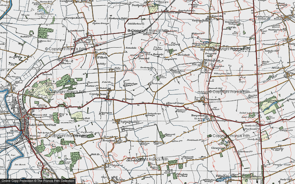 Old Map of Yawthorpe, 1923 in 1923