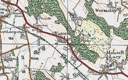 Old map of Yazor in 1920