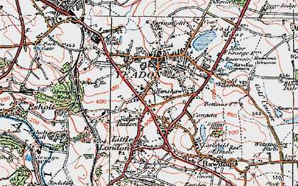 Old map of Yeadon in 1925