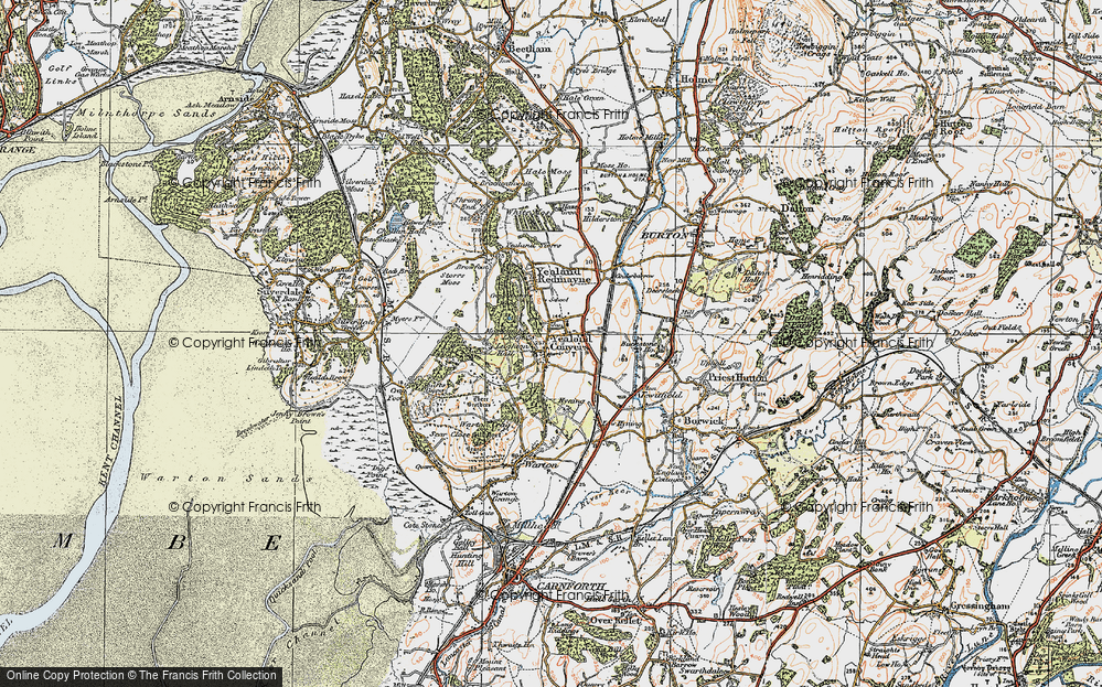Old Map of Yealand Conyers, 1925 in 1925