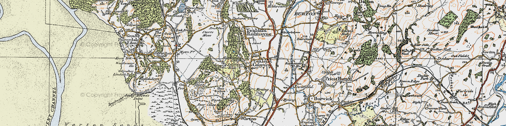 Old map of Leighton Hall in 1925