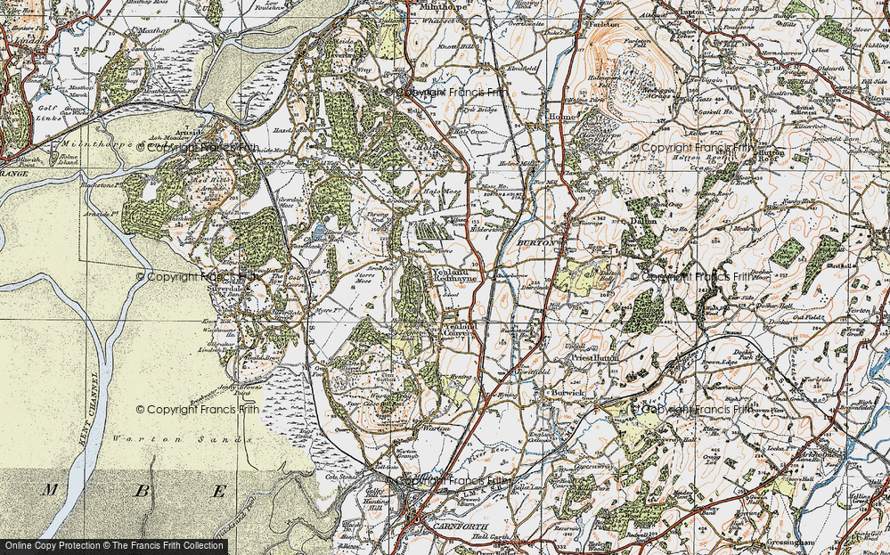 Old Map of Yealand Redmayne, 1925 in 1925