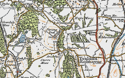 Old map of Leighton Ho in 1925