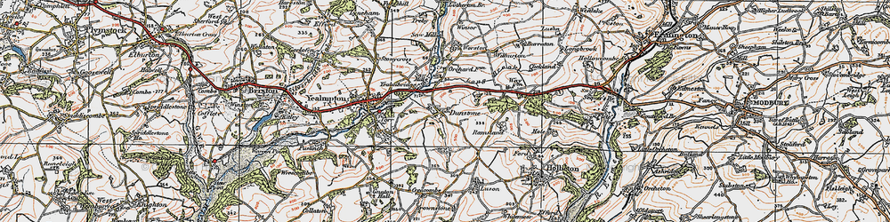 Old map of Yealmbridge in 1919