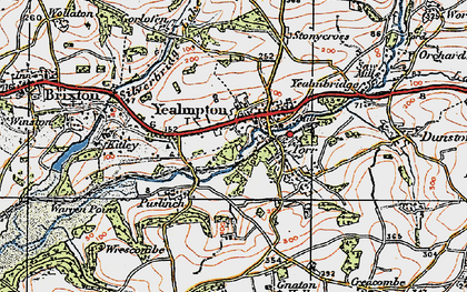 Old map of Wrescombe in 1919