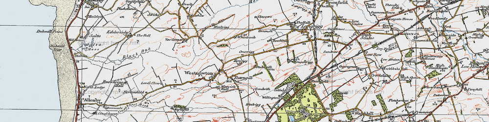 Old map of Yearngill in 1925