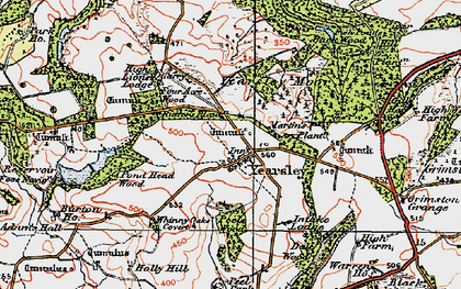 Old map of Yearsley Moor in 1925