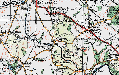 Old map of Adcote Mill in 1921